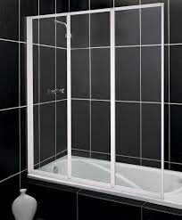bath screens bath home furniture diy fully framed white 3 fold 3mm toughened glass shower screen from argos on ebay
