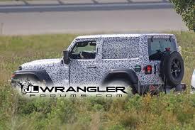 jeep wrangler 2 door soft top spied wrangler 2 door jl rubicon soft top and export jl sport