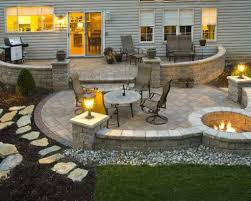 backyard stone patio designs flagstone patio benefits cost amp
