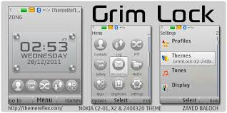 themes lock com grim lock theme for nokia x2 c2 01 240 320 themereflex