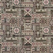 Upholstery Fabric Southwestern Pattern Aztec Black And Burgundy Southwestern Tapestry Upholstery Fabric
