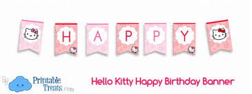 kitty happy birthday banner u2014 printable treats