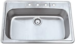 33 by 22 kitchen sink as137 33 x 22 x 8 18g single bowl topmount economy stainless