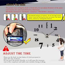 soledi modern diy large number wall clock amazon ca home u0026 kitchen