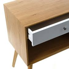 Adairs Side Table Home Republic Balmain Side Table With Shelf And Drawer Oak And