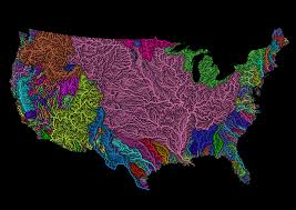 river basins of the us in rainbow colours fixed updated album