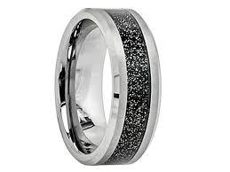 dallas wedding band dallas tungsten carbide wedding band with black sandstone inlay
