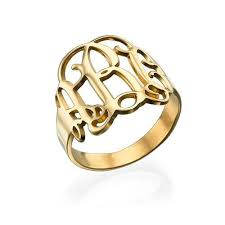 monogram ring gold gold monogram ring united monograms
