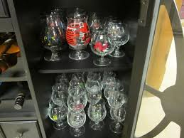 pint glass display cabinet how do you display store your glassware community beeradvocate