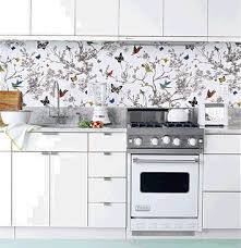Wallpaper Ideas For Kitchen - brilliant charming washable wallpaper for kitchen backsplash