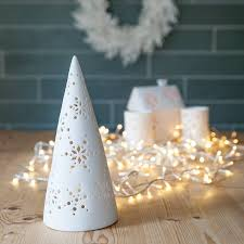 christmas tree tea light holder by the christmas home