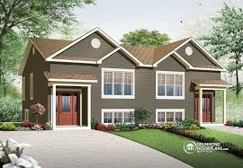 Small Family House Plans Multi Family Plan W3062 Detail From Drummondhouseplans Com Two