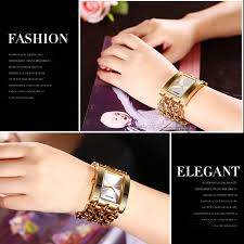 bracelet fashion watches images Weiqin square dial rose gold bracelet watch for women free jpg
