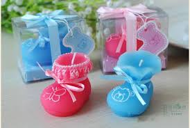 new baby shower 2015 new baby shower favor pink blue baby shoes candle birthday