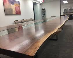 Live Edge Boardroom Table Walnut Live Edge Dining Table Conference Table Harvest