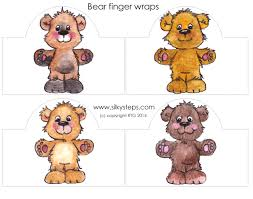 coloured bears finger puppet wraps
