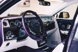 roll royce wraith inside this 2018 rolls royce phantom is purple on purple perfection