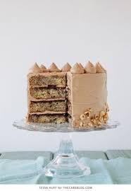 layers of fluffy banana cake silky nutella buttercream and