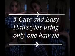 simple hairstyles with one elastic 5 cute and easy hairstyles using only one hair tie the precious