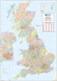 Counties In England Map by Huge Uk Postcode Area Map With County Shading Gif Or Pdf Download