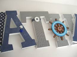Letters For Baby Nursery Custom Decorated Wooden Letters Navy Blue Letters Nursery