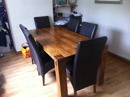 mango wood dining table harvey s mango wood dining table 6 leather chairs and sideboard in