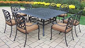 60 Inch Patio Table Oakland Living Hton 9 60 Inch Square Dining
