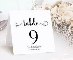 Table Card Template by Table Numbers Printable Wedding Table Card Template Diy Editable