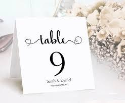 Diy Table Number Holders Table Numbers Printable Wedding Table Card Template Diy Editable