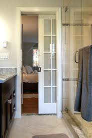 Frosted Glass Pocket Door Bathroom Bathroom Renovation With Space Shape Restrictions Michaud