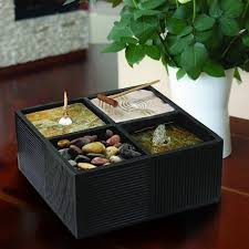 Mini Zen Rock Garden Create Mini Zen Sand Garden Home Decorations Insight