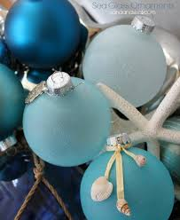 sea glass ornaments ornament glass and sisal