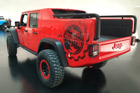 jeep wrangler red jeep pulls back cover on wrangler red rock concept motor trend