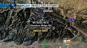 Glendora Wildfire Map by Two Men Dead After Car Plunges 720 Feet Off Road Near Mt Baldy
