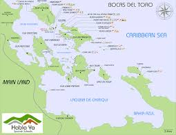 Rio On Map Bocas Del Toro Maps Maps Of Bocas Town Carenero Bastimentos
