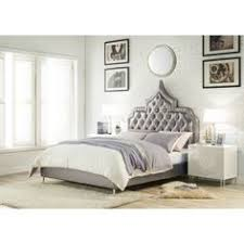 Winged Tufted Headboard by Nuevo Modern Furniture Celeste King Bed W Grey Tufted Fabric Wing