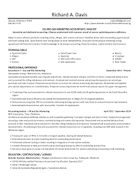 Sample Resume Oil And Gas Industry by Resume Oil U0026 Gas Marketing Accountant