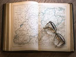 Map Paper Free Picture Map Paper Table Wood Book Eyeglasses Information