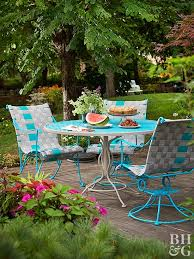 Best Way To Paint Metal Patio Furniture Before And After Outdoor Furniture Makeovers