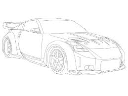 nissan skyline drawing outline tuner cars drawing