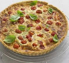 cuisine quiche roasted tomato basil parmesan quiche recipe food