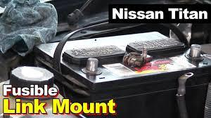 nissan titan sub box 2004 nissan titan battery fusible link youtube