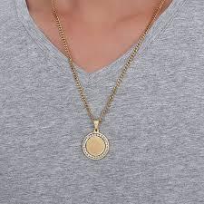 necklace with round pendant images Online shop men islamic quran inscription round pendant necklace jpg