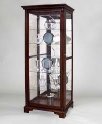 Curio Cabinet With Glass Doors Contemporary Living Room With Pulaski Glass Curio Cabinets