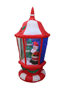 amazon com 6 foot tall lighted christmas inflatable lantern with