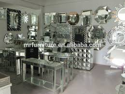 Mirrored Dining Room Furniture Pebble Design Creative And Unique All Glass Mirror Wall Mirror For