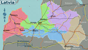 Egypt On Map Detailed Administrative Map Of Latvia Latvia Detailed