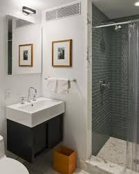 tiny bathroom ideas with shower only two support beside glass