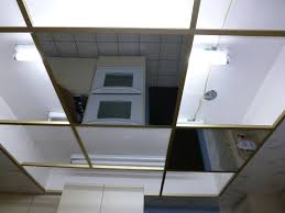 glass less mirror for grid suspended drop in ceiling tile dance