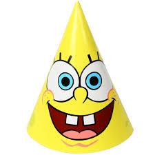 birthday hats spongebob party hats 8 pkg partycheap